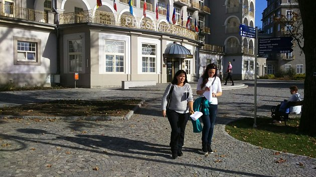 Nejhezčí volební místnost v Olomouckém kraji mají patrně v sanatoriu Priessnitz v jesenických lázních