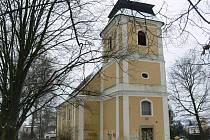 Kostel sv. Barbory v Zábřehu.