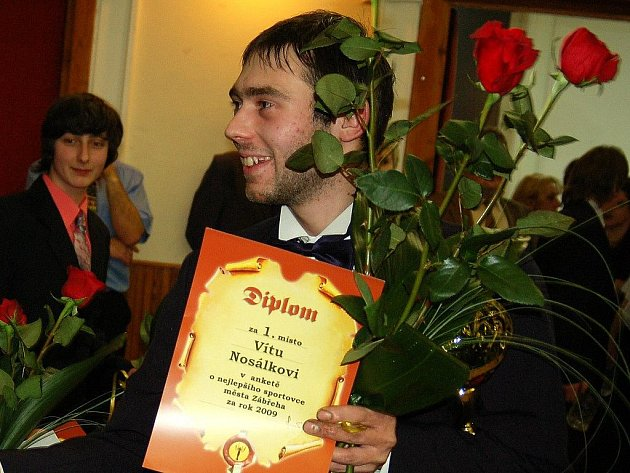 Vítěz ankety o nejlepšího zábřežského sportovce za rok 2009 Vít Nosálek