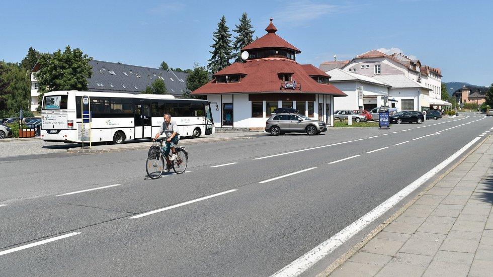 Velké Losiny - autobusové nádraží.