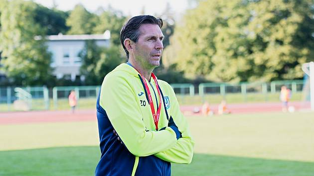 Trenér Šumperku Zdeněk Opravil.
