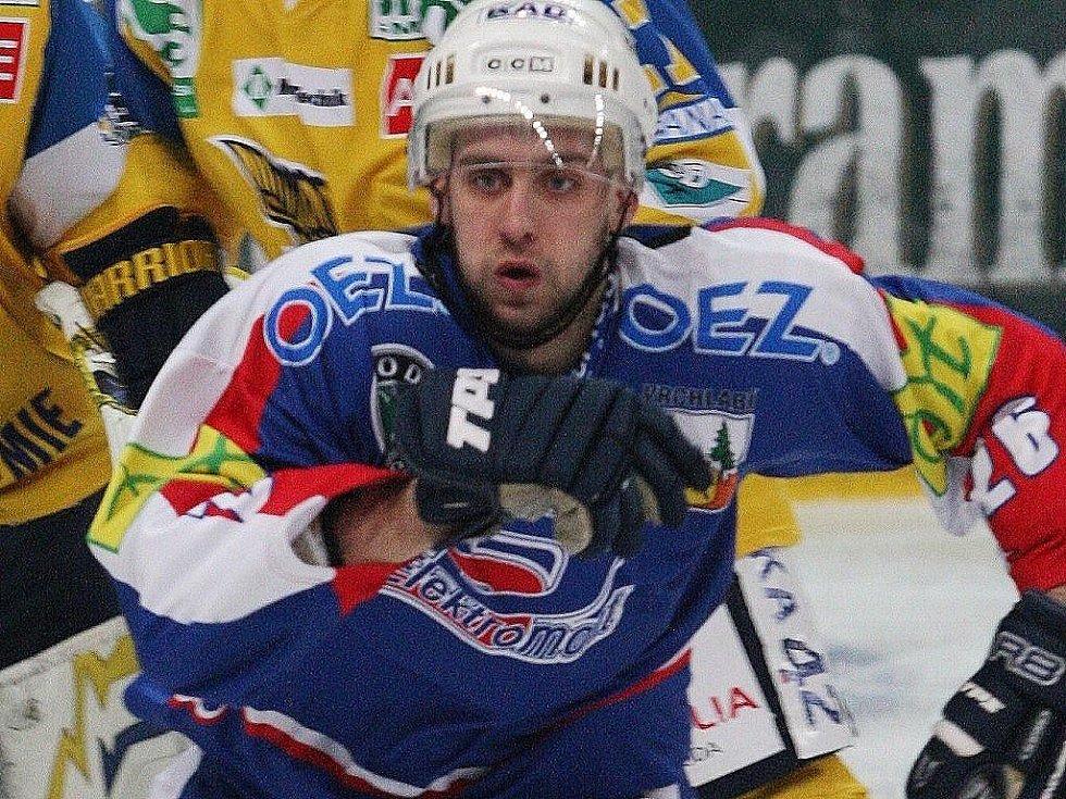 Hokejista Vrchlabí na ilustračním snímku