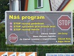 Billboard nedaleko zábřežského Lidlu