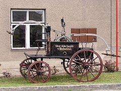 Původní stříkačka hasičů v Bohutíně