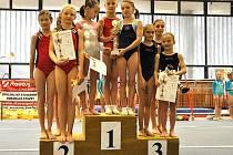 Šumperské gymnastky na závodě v Brně