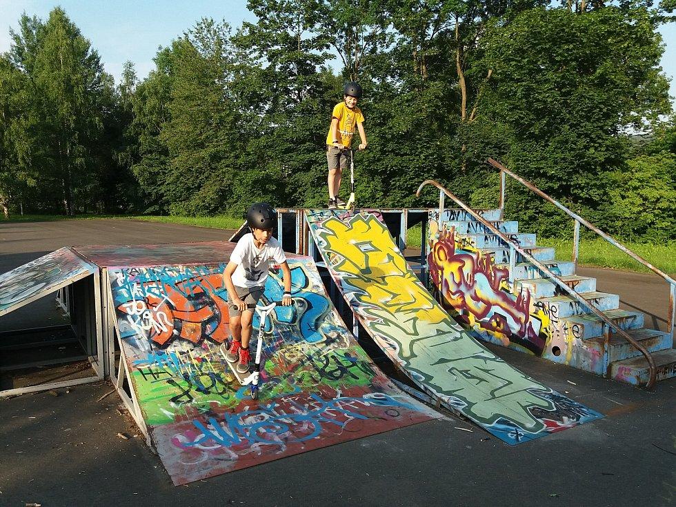 Současná podoba skateparku v Jeseníku.