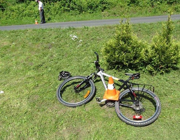 Cyklista havaroval v Žulové.