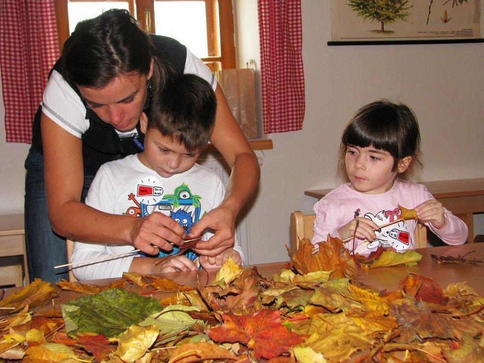 Ve středu 26. října v Pradědově dětském muzeu v Bludově děti tvořily z listí.