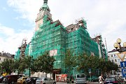 Rekonstrukce radnice v Šumperku, stav 20. července 2018.