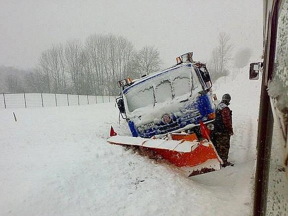 Snímek čtenáře Jiřího Jelínka byl pořízen na silnici mezi Horními Studénkami a Zborovem