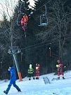 Záchranná akce ve skiareálu ve Filipovicích na Jesenicku