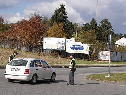 Snímky z policejní akce v Šumperku