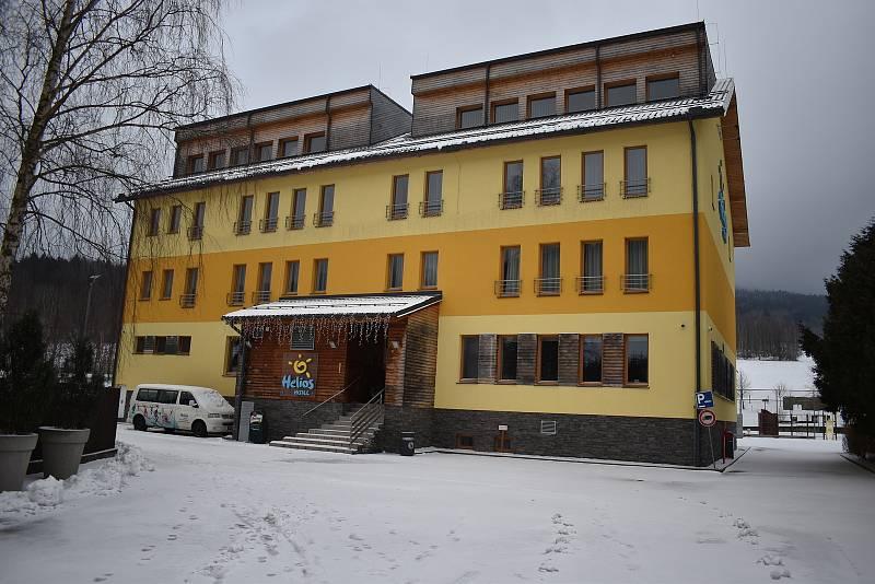 Ubytovací zařízení v Lipové-lázních v sobotu 30. ledna.