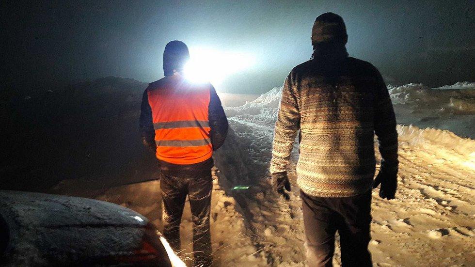 Přívaly sněhu ve čtvrtek 18. ledna na Červenohorském sedle