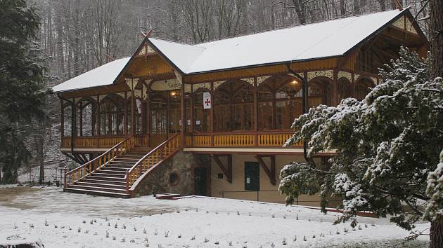 Tančírna v Račím údolí v zimě