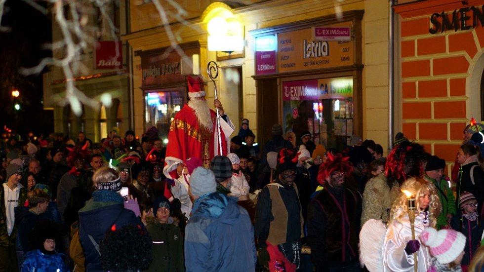 Mikulášský průvod v Šumperku 5. prosince 2018.