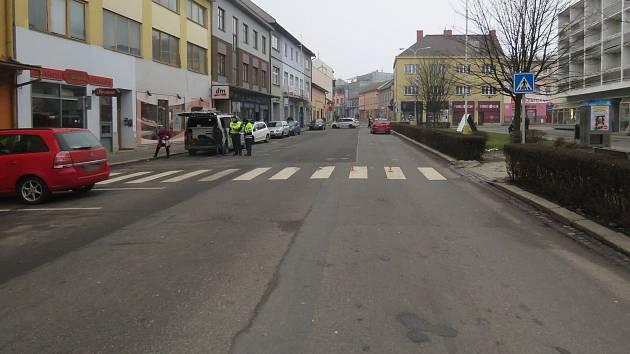 Místo nehody v Zábřehu