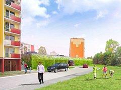 Vizualizace parkovacího domu v Gagarinově ulici v Šumperku. Podrobné technické řešení přinese až projekt, který se nyní zpracovává.