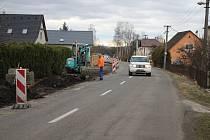 Stavba smíšené stezky pro chodce a cyklisty v Bratrušově