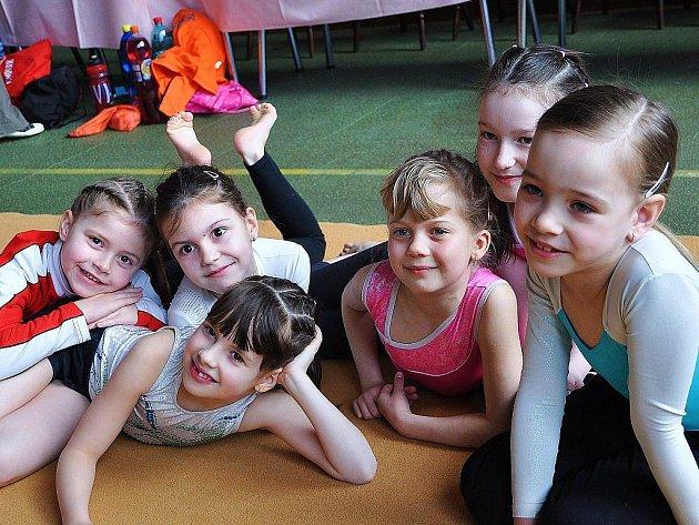 Výprava šumperských gymnastek v Prostějově