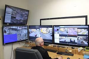 Monitorovací pracoviště kamerového systému v Jeseníku