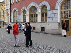 Bývalá herna v budově šumperského divadla.