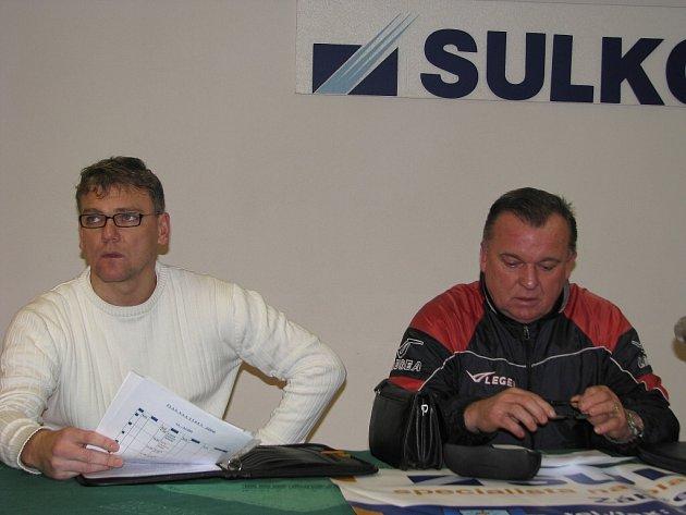 Jiří Balcárek a ředitel klubu SK Sulko Zábřeh Lubomír Hrdlovič.