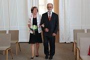 Zlatá svatba manželů Koppových v Šumperku.