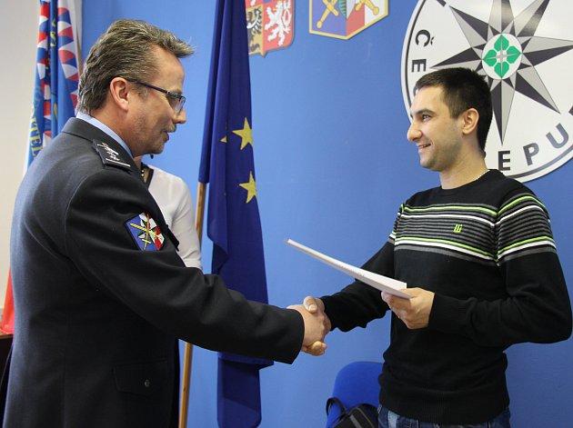 Vladimír Benda si vŠumperku převzal ocenění Gentleman silnic.