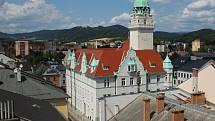 Pohled na Šumperk z věže kostela svatého Jana Křtitele. Ilustrační foto