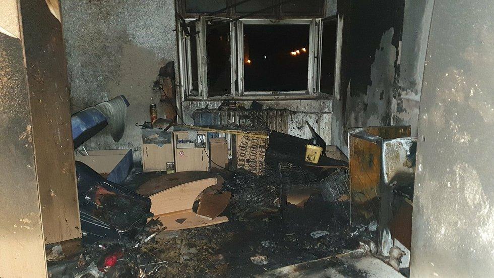 Požár ubytovny Jamajka v Zábřehu