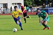 Fotbalisté Šumperku (ve žlutém) porazili Bohumín