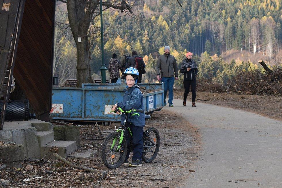 Lázně Jeseník 15. listopadu 2020.