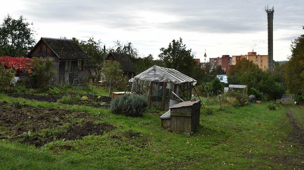 Šumperská zahrádkářská kolonie U Sanatoria v říjnu 2020.