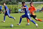 Fotbalisté Šumperku (v modrém) hostili Sigmu U18.