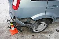 Opilý řidič havaroval 6. února v České Vsi