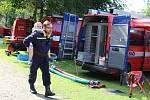 Soutěž hasičů v Hrabišíně