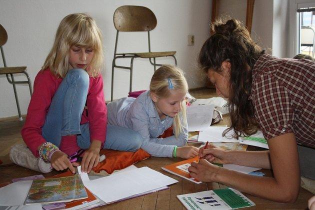 První den společné domácí výuky v Šumperku.