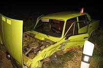 Opilý řidič havaroval 4. listopadu nedaleko Libiny