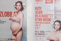 Výstava plakátů šumperského festivalu Džemfest.