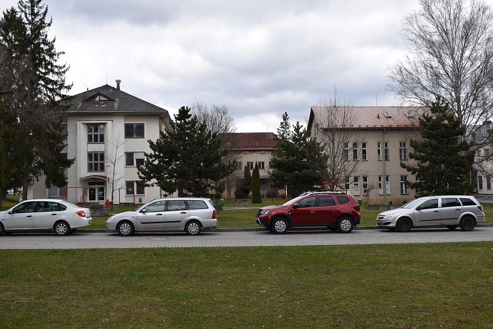 Nemocnice Šumperk. Historická část areálu nemocnice