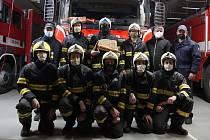 Rozloučení s dlouholetým hasičem Petrem Štaiglem v Zábřehu.