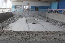 Rekonstrukce krytého bazénu v Šumperku.