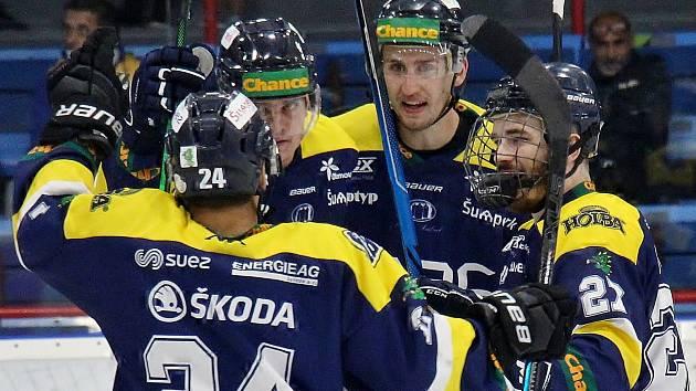 Radost šumperských hokejistů. Ilustrační foto