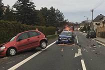 Hromadná nehoda v Bludově - 9. dubna 2021