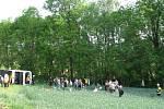 Snímky z místa nehody polského autobusu u Rovenska.