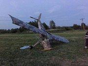 Nehoda ultralightu v Uhelné.