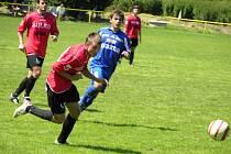 Zábřežští hráči (červené dresy) mají za sebou poslední přípravný zápas.
