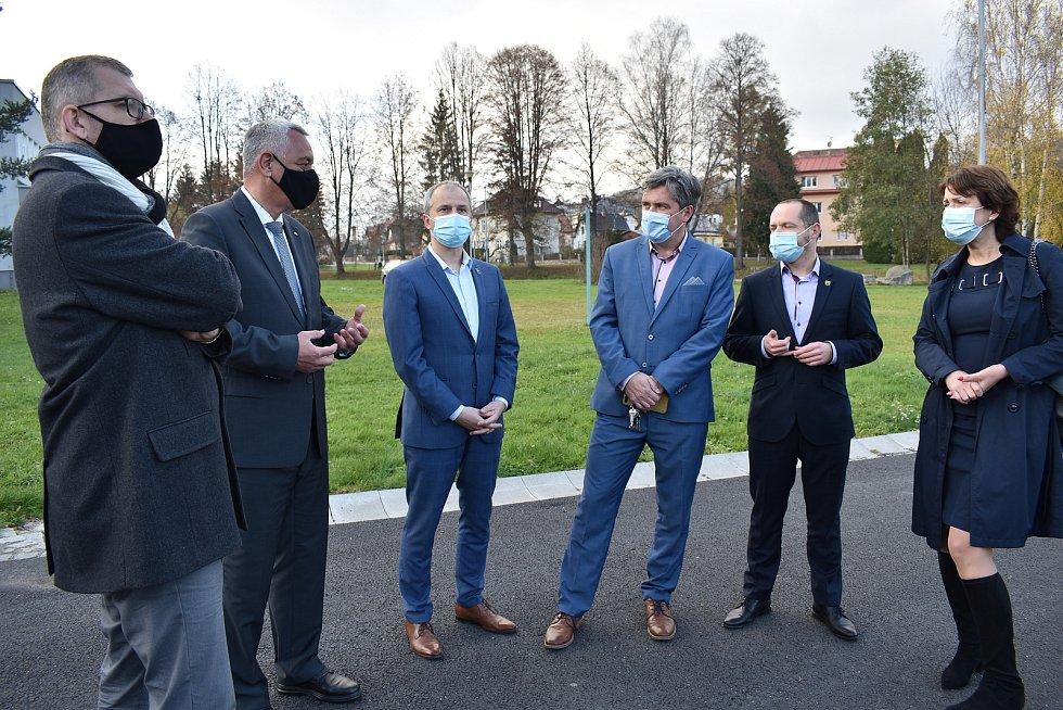Výjezd hejtmana a členů Rady Olomouckého kraje na Šumpersko a Jesenicko. 13.11.2020