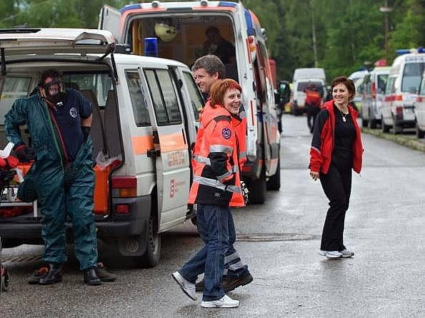 Rallye Rejvíz - sraz účastníků soutěže záchranářů v Koutech nad Desnou